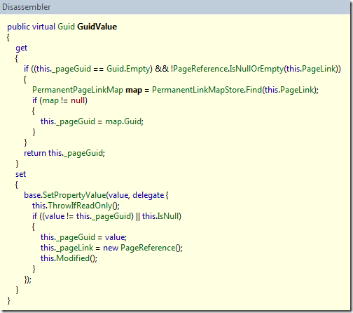 PropertyPageReference.GuidValue implementation from EPiServer CMS 6